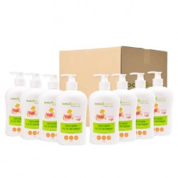 BabyOrganix Extra Gentle Top To Toe Cleanser - Rose Oil (400ml) (8pcs)