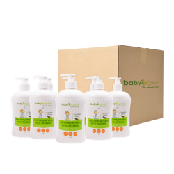 BabyOrganix Kids and Family Top To Toe Cleanser - Cucumber (400ml) (8pcs)