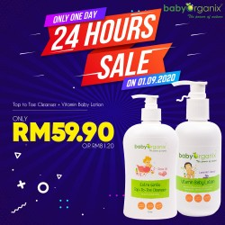 Baby Organix Top-To-Toe Cleanser + Vitamin Baby Lotion