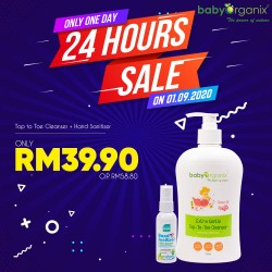 Baby Organix Top-To-Toe Cleanser + Hand Sanitiser