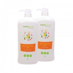 BabyOrganix Baby Feeding Bottle Wash - Twin Pack (800ml)