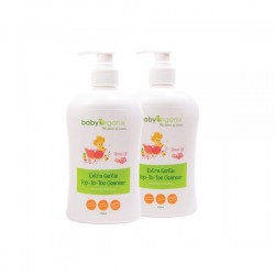 BabyOrganix Extra Gentle Top To Toe Cleanser - Rose Oil (Twin Pack) (400ml)