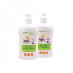 BabyOrganix Extra Gentle Top To Toe Cleanser - Grape (Twin Pack) (400ml)