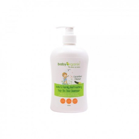 BabyOrganix Kids and Family Top To Toe Cleanser - Cucumber (400ml)