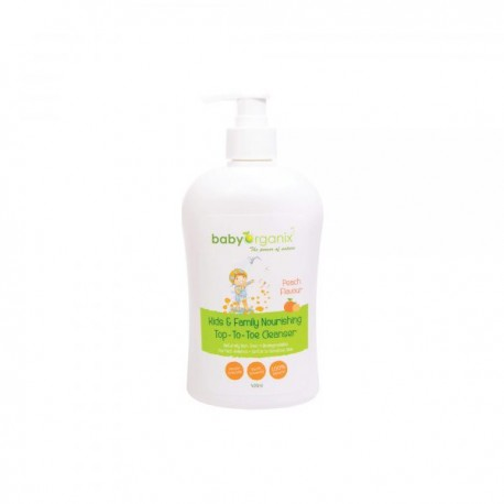 BabyOrganix Kids and Family Top To Toe Cleanser - Peach (400ml)