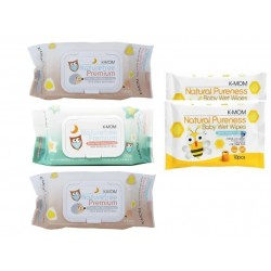 K-Mom Nature Free Organic Premium Wet Wipes (100s x 3 packs) + FREE 10pcs Wet Tissue 2 Packs