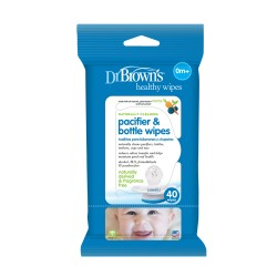 Dr Brown's Pacifier and Bottle Wipes (40 packs)