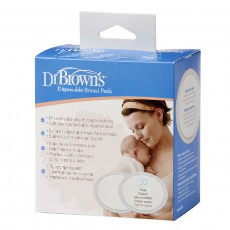 Dr Brown's Disposable Breast Pad - Oval (30packs)