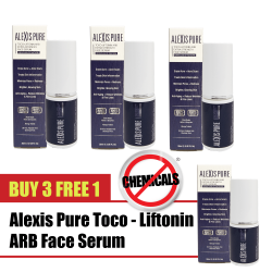 Alexis Pure Toco-Liftonin ARB 100% All-Natural Herbal Face Serum, Anti-Aging, Acne Treatment, Pores Minimizer 30ml (Bu 3 Free 1)