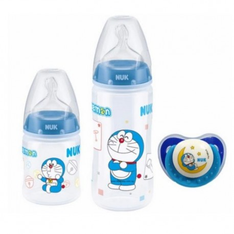 NUK Doraemon PCH Trio Pack with PP Bottle / Silicone S1 M