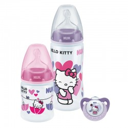NUK Hello Kitty Premium Choice Trio Pack with PP Bottle / Silicone S1 M