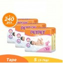 Pet Pet Mega Tape S80 x 3 Packs (FREE Vcoool Nursing Cover worth RM49)