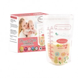 Autumnz Double ZipLock Breastmilk Storage Bag (12oz x 28 bags) (Buy 10 Free 1)