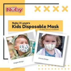 Nuby 3-Ply Kids Mask 60pcs + Kath + Belle Germs Free Sanitiser x 1