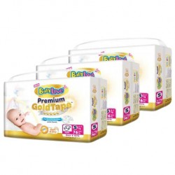 BabyLove Premium Gold Tape S76 x 3packs
