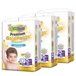 BabyLove Premium Gold Pants XXL38 x 3packs