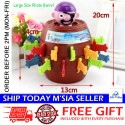 Little B House XL Size Pop Up 2 in 1 Pirate Barrel Game Saving Box Roulette Games Pirate Bucket Toy -  BT247