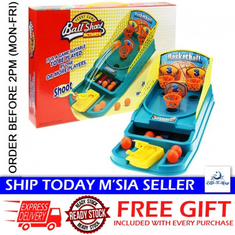 Little B House Classic Arcade Hoops Mini Basketball Shooting Game Toys Desktop Table Sports Toys for Kids - BT255