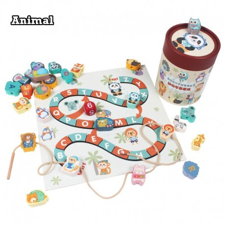 Little B House Multi-Functional Lace Beads, Lace-Game Wooden Sets Educational Toys - BT225