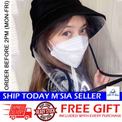 Little B House Anti-Saliva Transparent TPU Protection Mask Hat Removable Shield Hat - HAT01