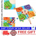 Little B House Matching Game Color Sorting Kids Chopsticks Beads Toy Early Education Board Game - BT227