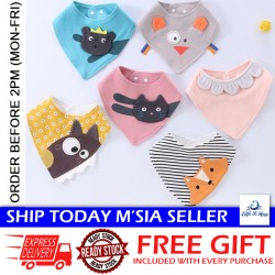 Little B House Newborn Baby Cartoon Cotton Bibs Triangle Bibs Triangle Scarf Absorbent Cloth - BB07