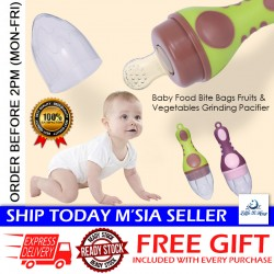 Little B House Baby Food Bite Bags Fruits & Vegetables Grinding Pacifier Teether Bite Teething - TW08