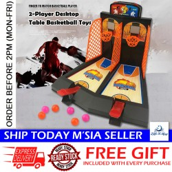 Little B House Mini Basketball 2 Players Toy Child Family Table Game Classic Basketball Hoop Set - BT257