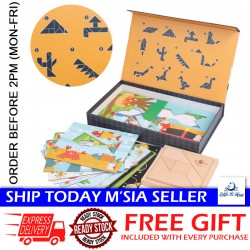 Little B House Wooden Creative Jigsaw Puzzle Creative Geometry Developing Toys - BT206