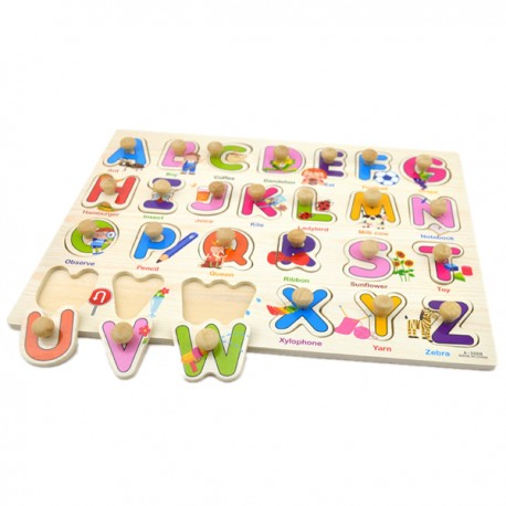 Little B House Preschool Educational Wood Puzzle - Alphabet & Mathematics - BKM38-B