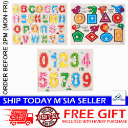 Little B House Preschool Educational Wood Puzzle - Alphabet & Mathematics - BKM38-C