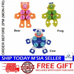 Little B House Wooden Disassembly Animal (Bear/Cow/Frog) Toys - BT118