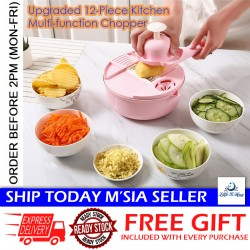 Little B House 12-in-1 Vegetable Mandoline Slicer Shredder Basket Food Cutter Fruit Vegetable Kitchen Tools - KW03