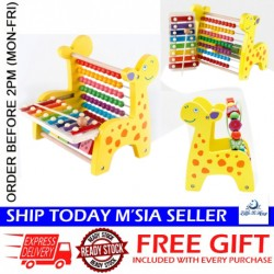Little B House Wooden Giraffe Xylophone Hand Knock Piano Keyboard Toys - BT149