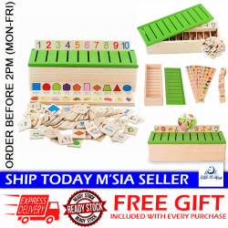[Little B House] Wooden Classification Box Math Alphabet Teaching Toys - BT127