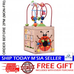 [Little B House] Wooden Bead Maze Activity Center Around Circle Toys - BT97
