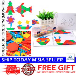 Little B House 287pcs Wooden Creative Tangram Brain Teaser Puzzle Toys - BT113