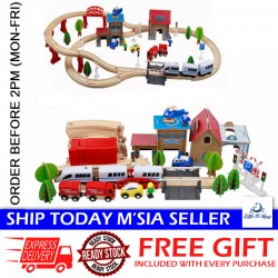 Little B House Wooden Electronic City Train Track Railway Play Set Toy - BT84