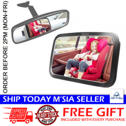 Little B House 360 Adjustable Safety Car Seat Mirror for Rear Facing Infant with Wide Clear View - BS03