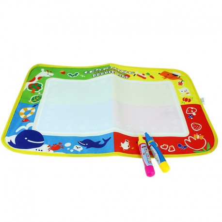 Little B House 29x45cm Water Drawing Painting Magic Pen Doodle Mat Toy Early Learning -BT36-M-B
