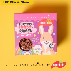 Little Baby Grains Busting Beetroot Ramen for Kids (Bundle of 4)