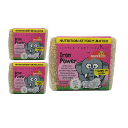 Little Baby Grains Nutritionist Fornulated Iron Power (Bundle of 3)