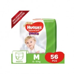 Huggies Ultra Natural Soft Pants (M56 x 1) Super Jumbo Pack
