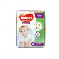 Huggies Ultra Natural Soft Pants (M56 x 3) Super Jumbo Pack