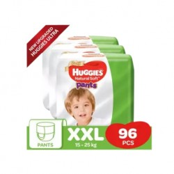 Huggies Ultra Natural Soft Pants (XXL32 x 3) Super Jumbo Pack