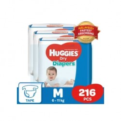Huggies Dry Diapers (M72 x 3) Super Jumbo Pack