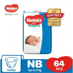 Huggies Dry Diaper Jumbo (NB64 x 3)