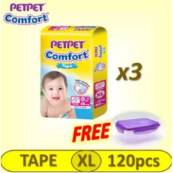 Pet Pet Comfort Tape Mega Pack XL 3x40's (FREE Food Container)