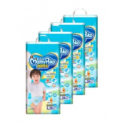 MamyPoko Extra Dry Skin Boy Pants L (9-14kg) 28 X 4 packs 112 Pcs