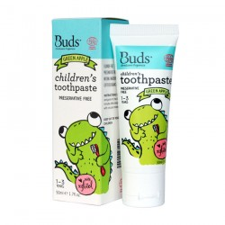Buds Oralcare Organics Children's Toothpaste with Xylitol 50ml - Green Apple